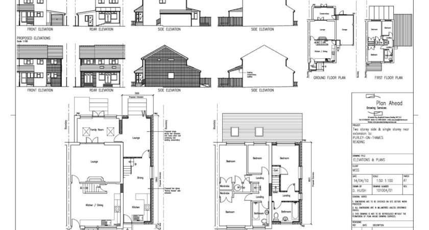 Drawing House Extension Plans Home Design Style
