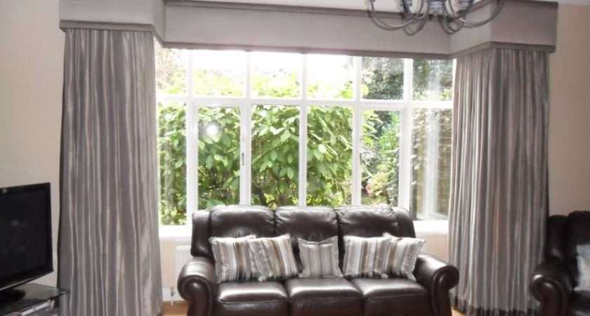 Dress Square Bay Window Blinds Curtains