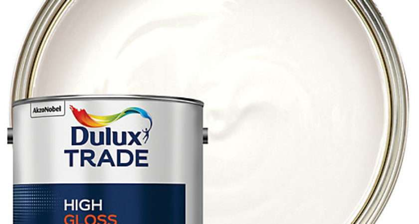 Dulux Trade High Gloss Paint White Wickes