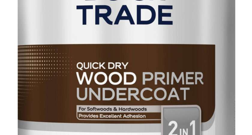 Dulux Trade Quick Dry Wood Primer Undercoat Paint White