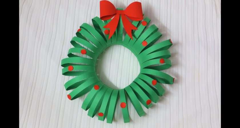 Easiest Diy Christmas Wreath Paper Crafts