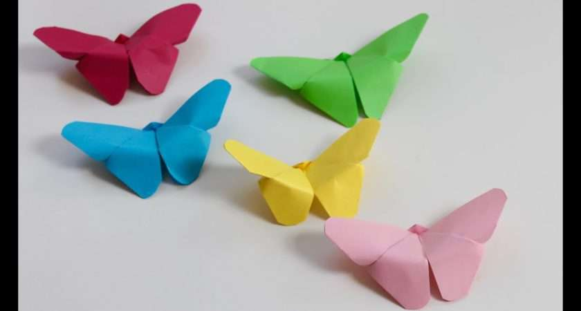 Easy Craft Make Paper Butterflies Youtube