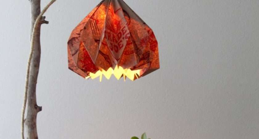 Easy Diy Pendant Light Beautiful Origami Lampshade