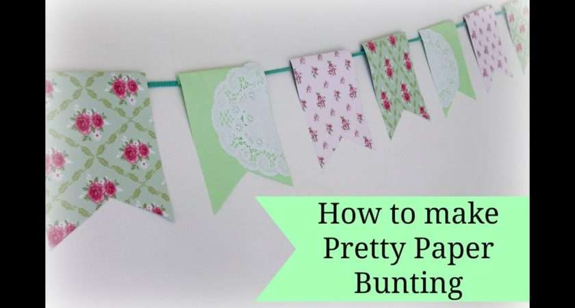 Easy Paper Bunting Tutorial Youtube