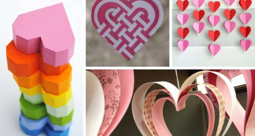 Easy Paper Heart Projects Crafty Blog Stalker