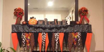 Easy Sew Halloween Mantle Swag Pinterest
