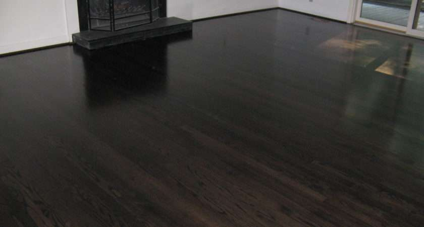 Ebony Stained Hardwood Floors