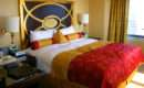 Eclectic Bedroom Rich Red Gold Bedding Design