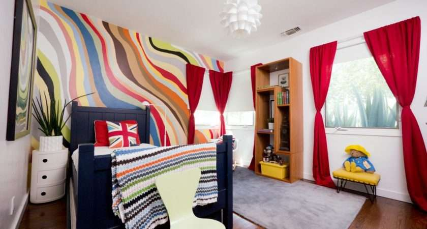 Eclectic Colorful Boy Room Kids Ideas