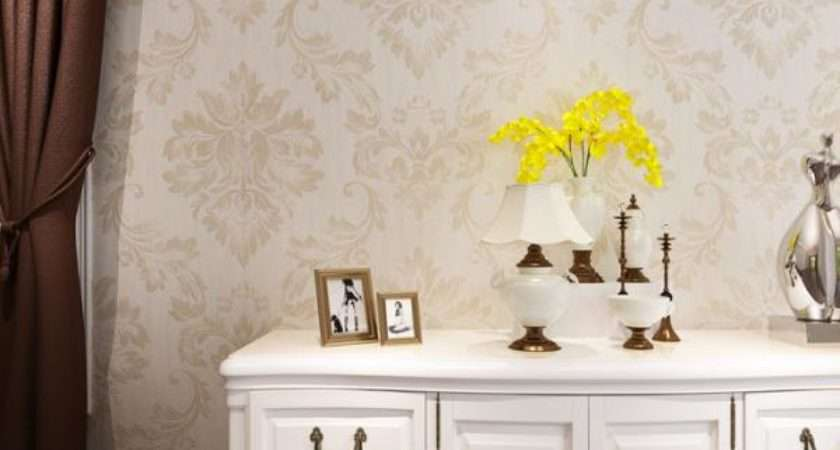 Eco Friendly Embossed Vinyl Wall Coverings Silver