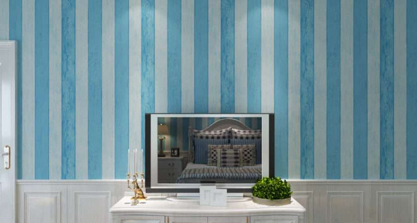 Eco Friendly Sky Blue Contemporary Wall Coverings