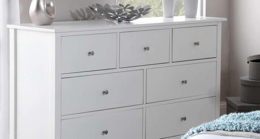 Edward Hopper White Drawer Chest Bedroom Furniture Direct