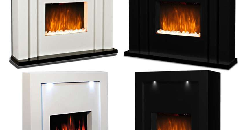 Electric Fire Fireplace Inset Standing Surround Led Lights
