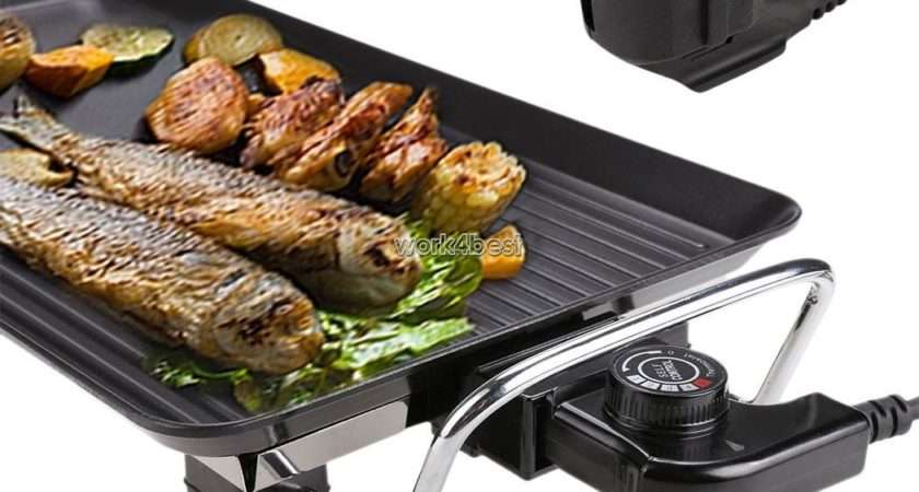 Electric Teppanyaki Table Grill Griddle Bbq Hot
