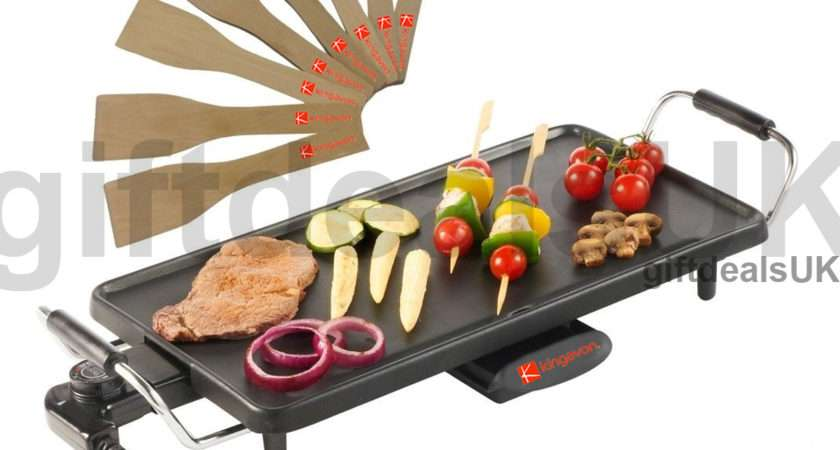 Electric Teppanyaki Table Top Grill Griddle Bbq Hot