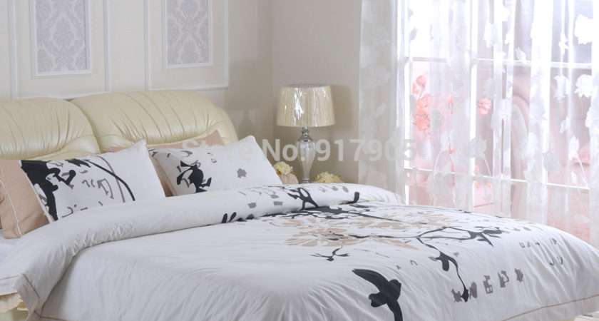 Elegant Chinese Classic Bird Print Duvet Cover Sets