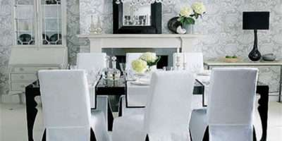 Elegant Christmas Dining Room Chair Covers Ideas