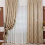 Elegant Shabby Chic Window Curtains Beige Bedrooms