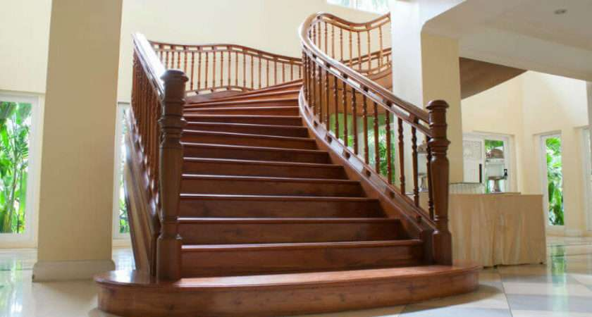 Elegant Wood Stair Railing Design Ideas