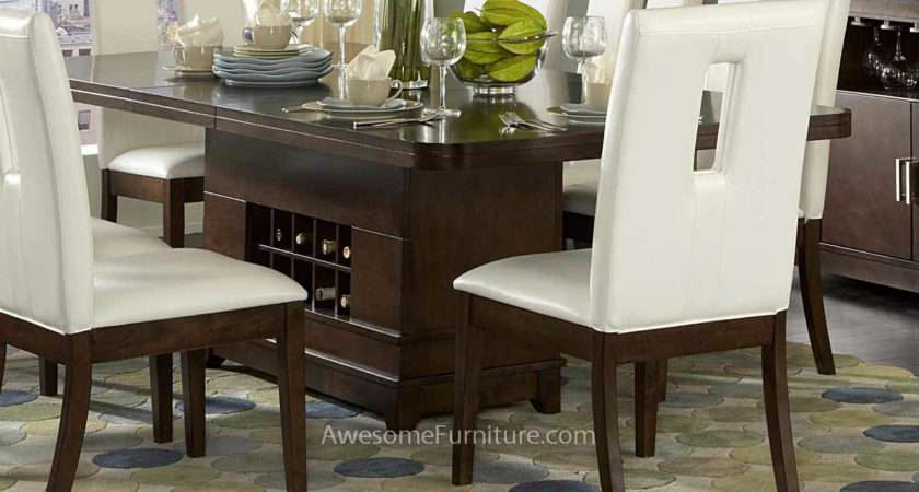 Elmhurst Dining Table Wine Storage Awesome Furniture