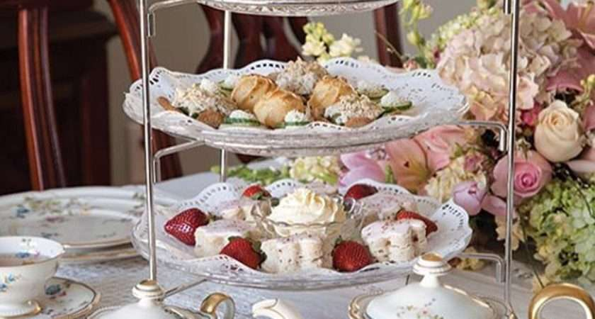 English High Tea Table Setting Garden Party