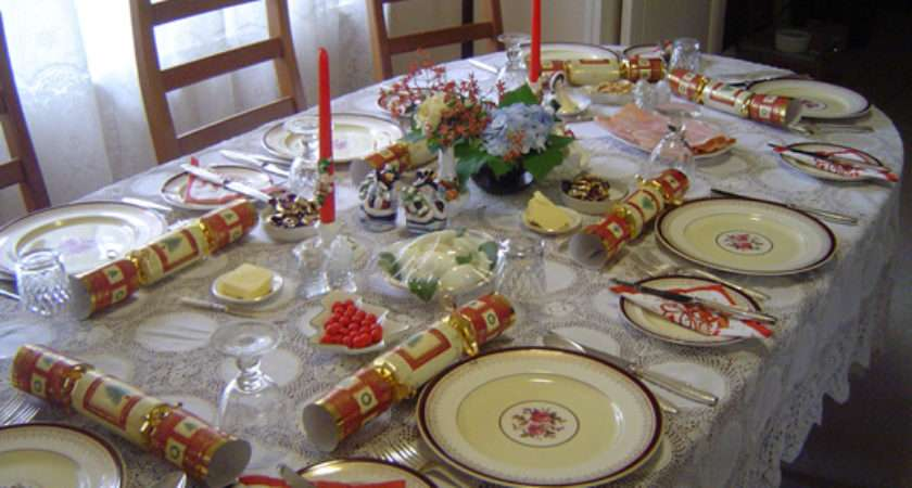 English Service Table Setting