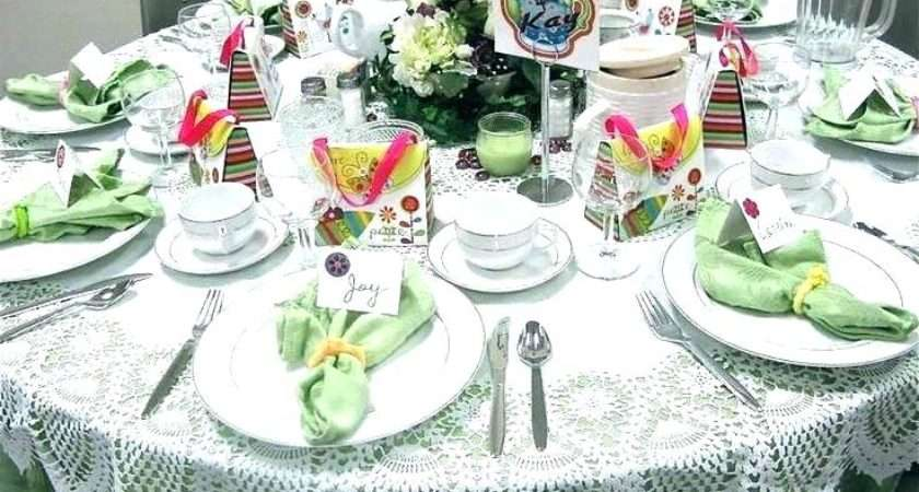 English Table Setting Furniture Tea