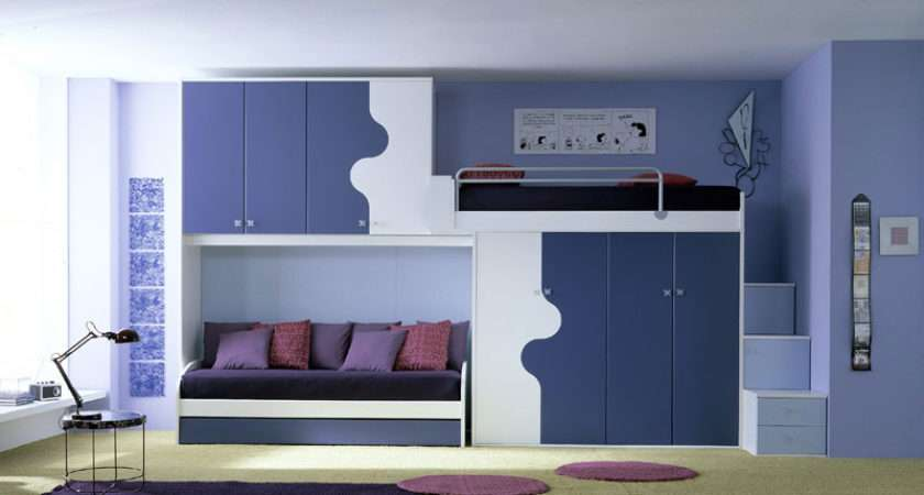 Ergonomic Kids Bedroom Designs Two Children