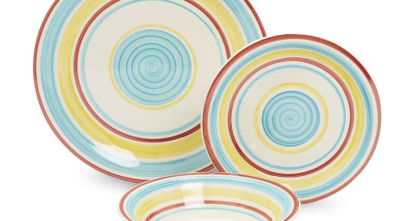 Essential Home Manta Stripes Piece Dinnerware Set