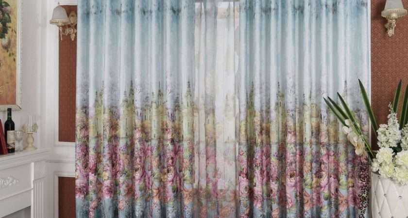 European Style Luxury Ready Made Curtains Living Room