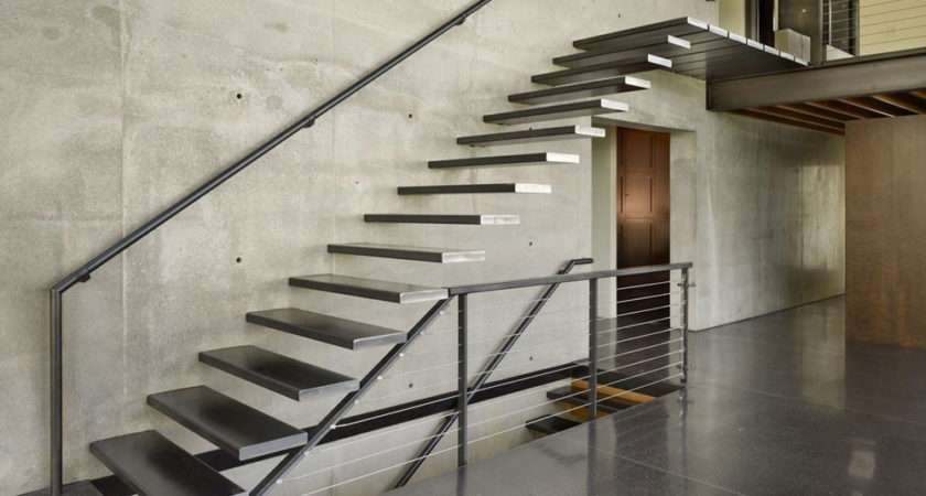 Excellent Example Steel Treads Floating Wall Via