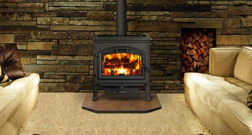 Explorer Wood Stove Contemporary Living Room