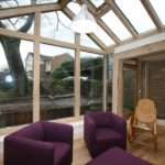 Extension Connecting Green Oak Conservatory Cragg Builders