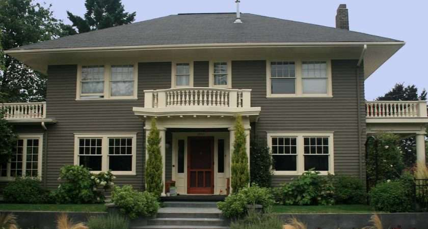 Exterior House Paint Schemes Dark Green Wall