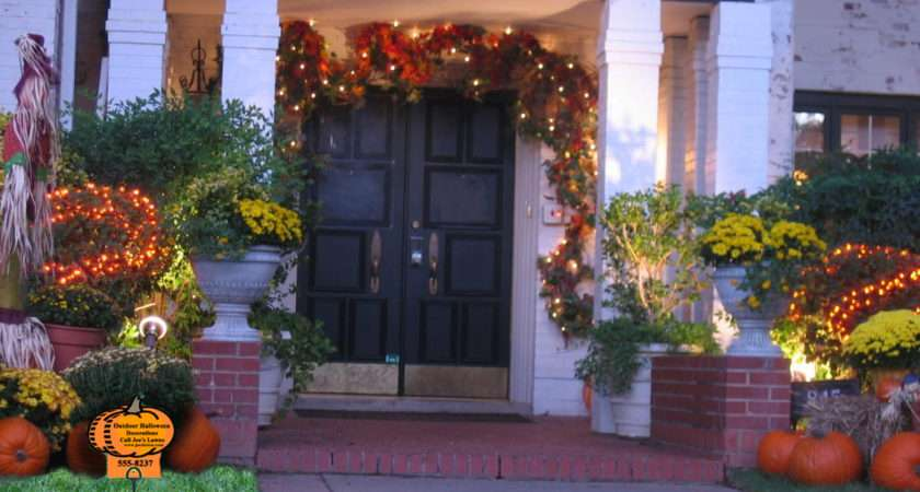 Exterior Outdoor Halloween Decorations Ideas Kitchentoday