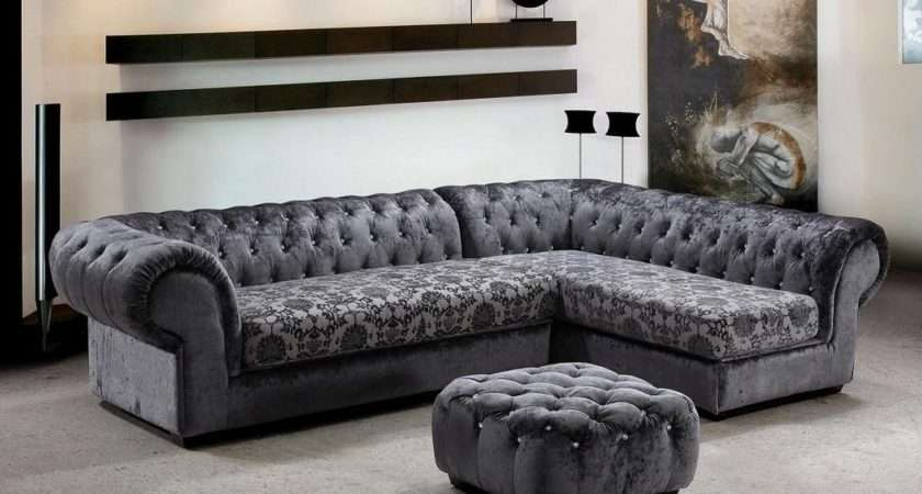 Extravagant Tufted Covered Microfiber Sectional Hayward