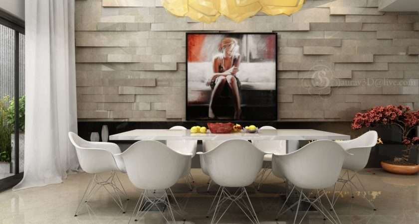 Extruded Feature Walls Provide Dramatic Backdrop