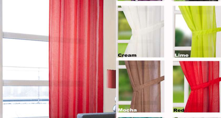 Eyelet Ring Top Voile Curtain Panel Curtains Ebay