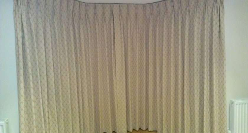 Fabric Covered Facia Bay Window Curtains