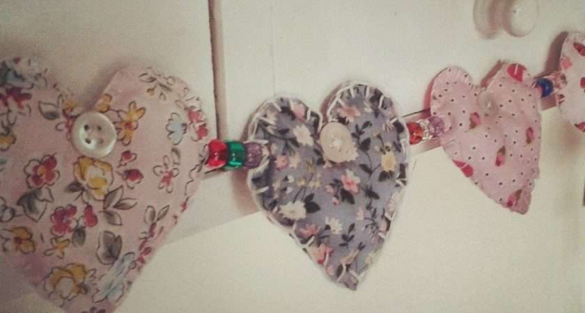 Fabric Heart Garland Tutorial Polished Button