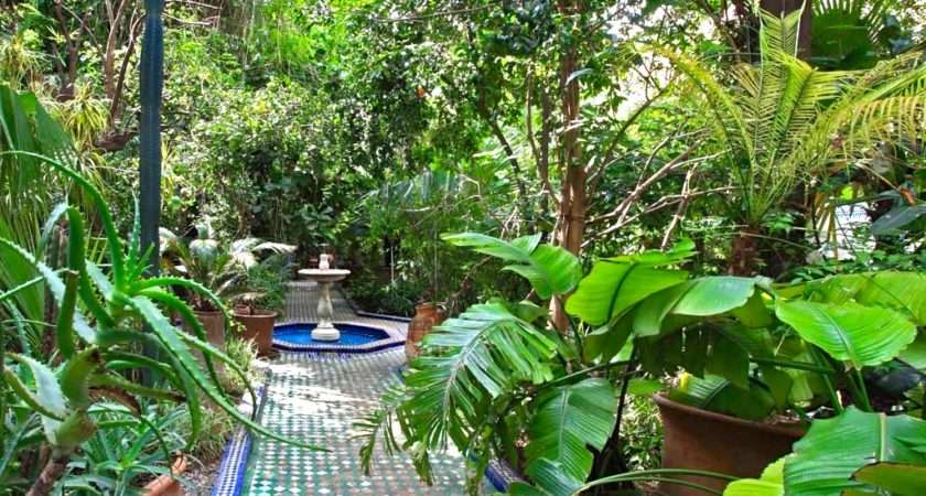 Fabulous Courtyard Gardens Marrakech Morocco Travel