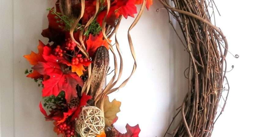 Fall Wreath Autumn Modern Weddingsandwreaths