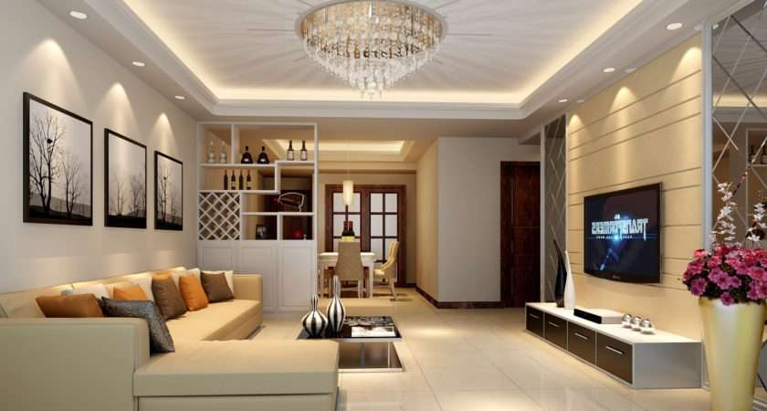 False Ceiling Design Fan Rectangular Living Room