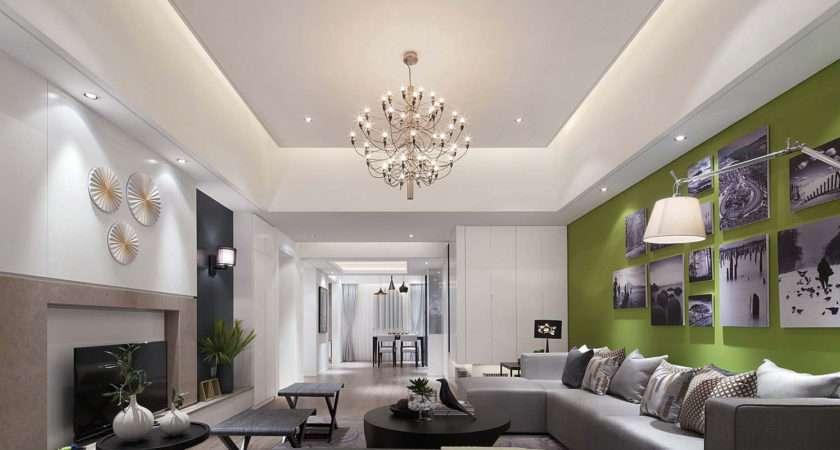 False Ceilings Rectangular Drawing Room Home Combo