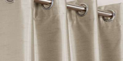 Faux Silk Blackout Curtains Eyelet Heading Chums