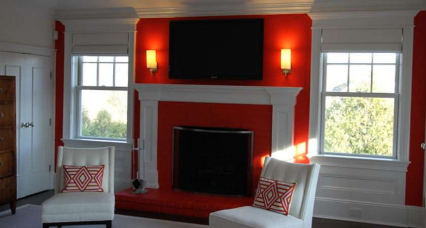 Feature Wall Fireplace Bedroom New York