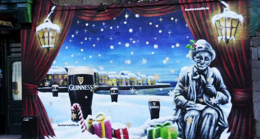 Featurewalls Connell Guinness Christmas Mural Eyre