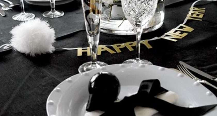 Festive Glamorous Party Table Settings New Year