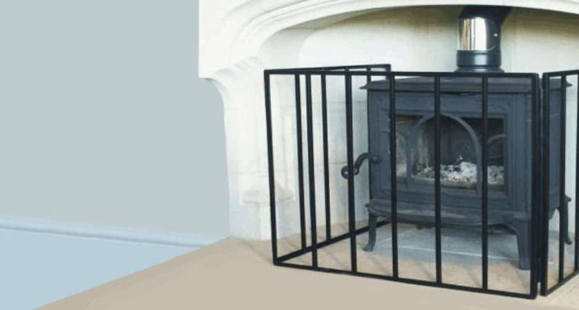 Fire Guards Screens Next Day Delivery Black