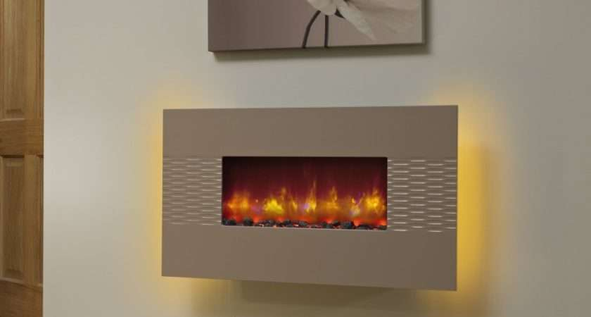 Fireplaces Deluxe Inch Wall Mounted Electric Fire Cappuccino